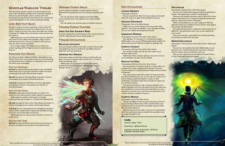 Modular warlock tweaks long rest pact magic expanded