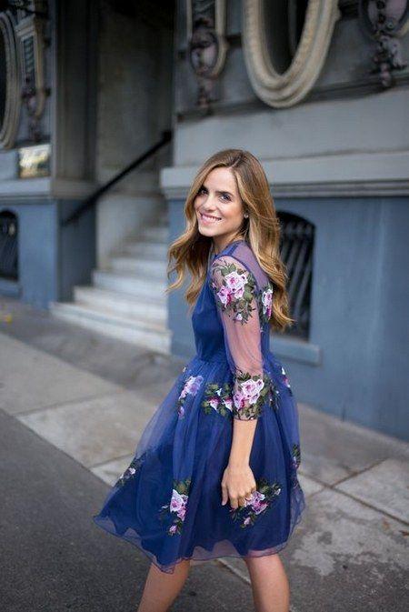 blue tulle wedding guest dress / http://www.himisspuff.com/wedding-guest-dress-ideas/9/