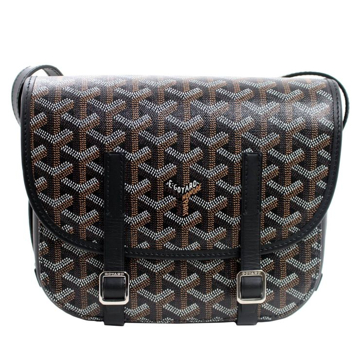 Goyard Black Belvedere Small Messenger Bag | From a collection of rare vintage crossbody bags and messenger bags at https://www.1stdibs.com/fashion/handbags-purses-bags/crossbody-bags-messenger-bags/
