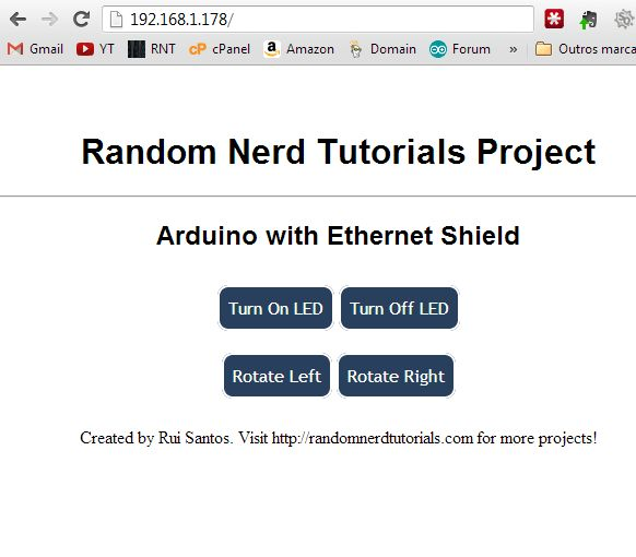 Arduino - Webserver with an Arduino + Ethernet Shield | Random Nerd Tutorials