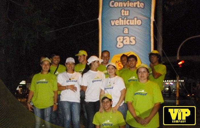 BTL CAMPAÑA GAZEL ARMENIA - COLOMBIA Totens BTL http://www.vip.com.co www.facebook.com/vipcompanysa