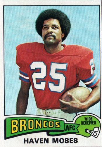DENVER BRONCOS - Haven Moses 17 TOPPS 1975 NFL American Football Trading Card