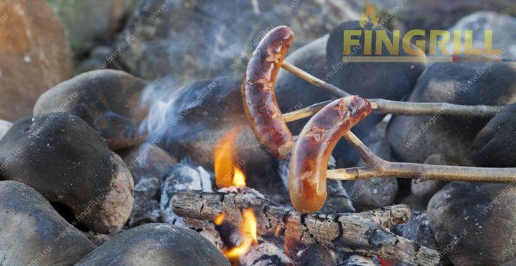 Сосиски на костре. www.fingrill.ru