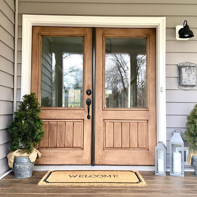 1 10 X3 11 Welcome Estate Doormat Threshold French Front Doors House Exterior Wood Front Doors