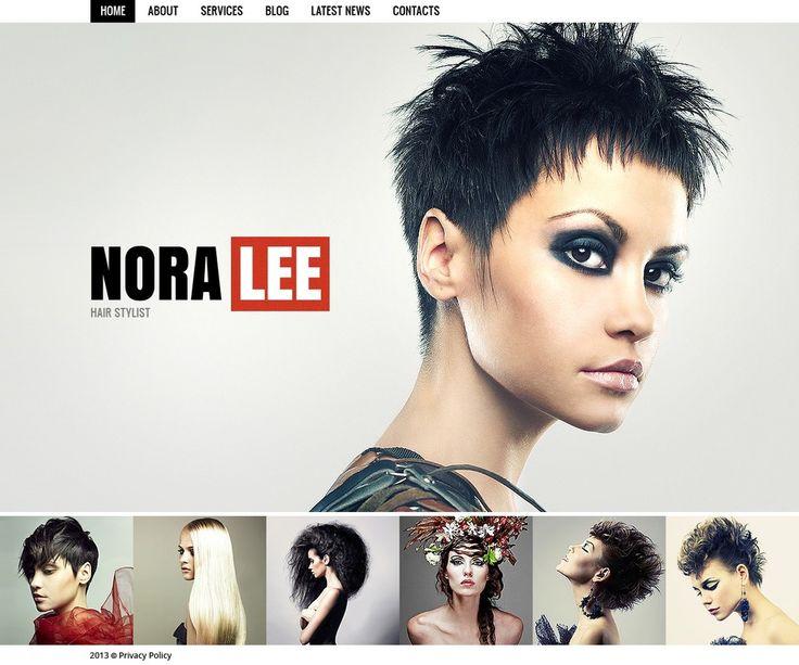 K: Simple and different Hair Salon Website Template New Screenshots BIG