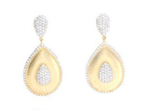 Chandelier Pear Shaped Earrings with Signity Diamond Simulant Sterling .925 Glitterati By GDesign. $80.00. Save 75%!