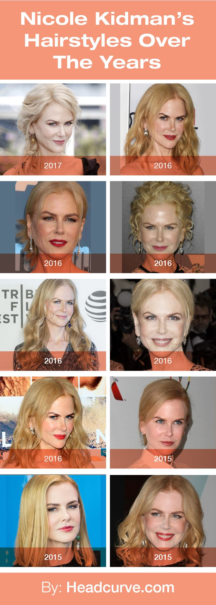 Nicole Kidman's Hairstyles Over the Years