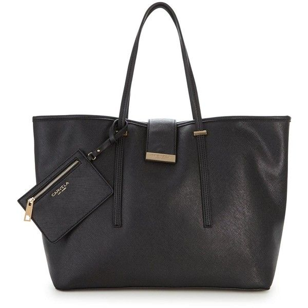 Carvela Mollie Large Shopper ($66) ❤ liked on Polyvore featuring bags, handbags, tote bags, sling purse, purse tote, shopper tote, structured tote and structured tote bag