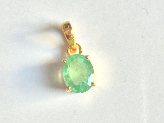 super fine clean emerald fully lustre pendant by tarunenterprises