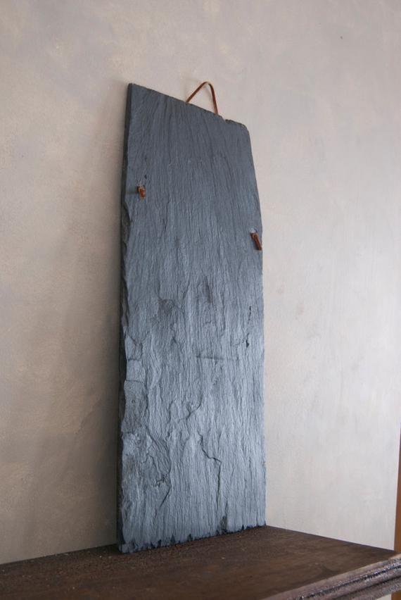 Gift Set Of 2 10x18 Natural Slate Chalkboard Etsy Slate Roof Tiles Hanging Chalkboard Diy House Projects