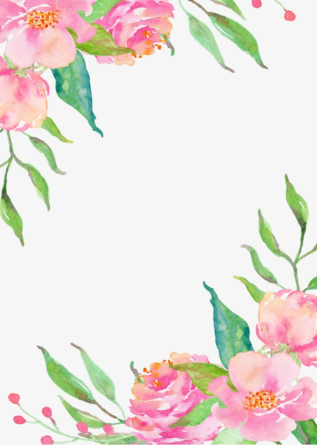 Pink Flower Borders Png Free Download Flower Border Png Flower Border Pink Flower Painting