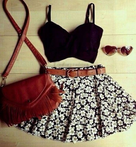 summer outfits - love the skirt! nay to the sunglasses tho