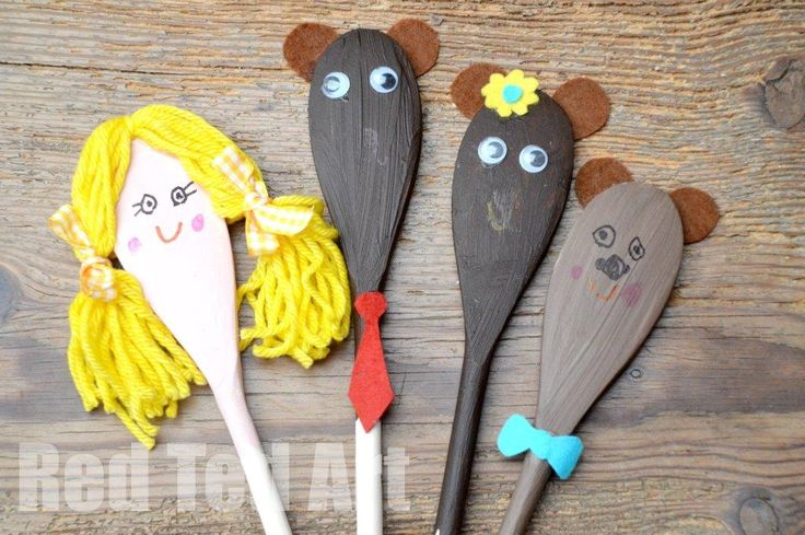 Exploring Fairy Tales: Goldilocks and The Three Bears Craft. A great craft to go with this classic fairy tale. Wonderful for reenacting the story.