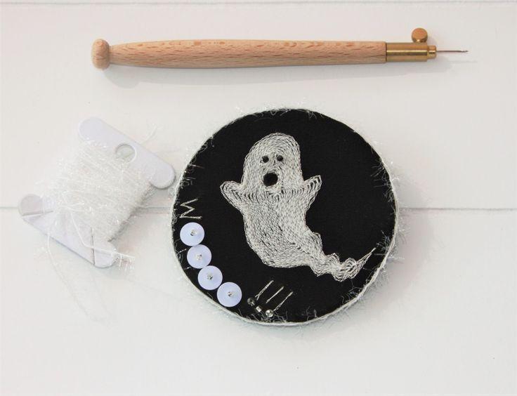 Broche fantôme , broche Halloween , Lunéville , broche humour , cadeau pour elle…