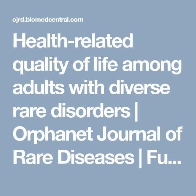 Health-related quality of life among adults with diverse rare disorders | Orphanet Journal of Rare Diseases | Full Text