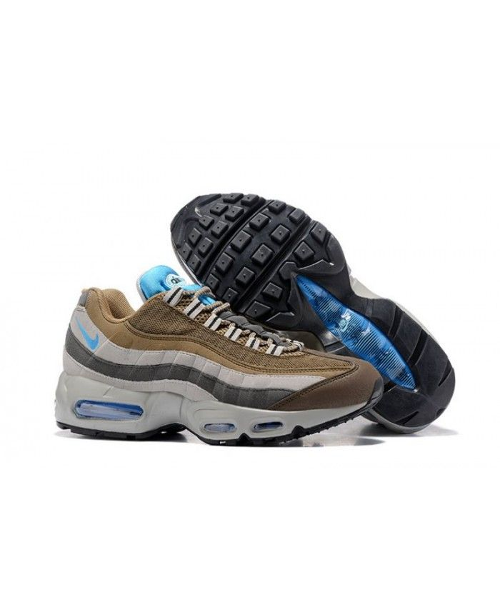 081a3048680 Nike Air Max 95 Brown Blue Grey Trainer | Sneakers in 2019 | Grey ...
