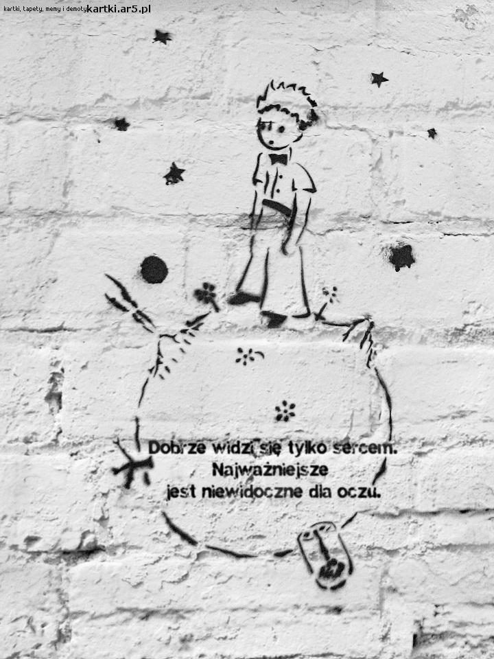 Dobrze widzi się tylko sercem. Najważniejsze jest niewidoczne dla oczu #MałyKsiążę #cytat #cytaty #TheLittlePrince #inspirationalquotes #quotes