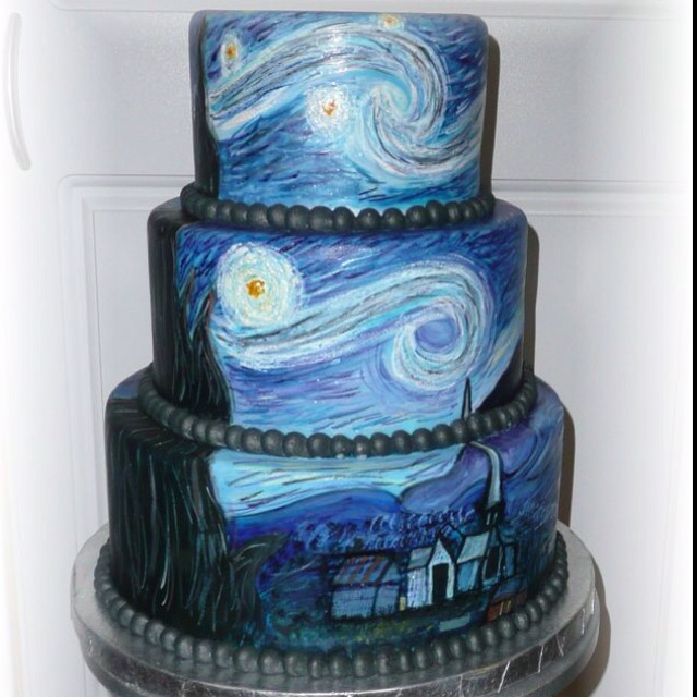 OH MAN. Favorite painting on a cake? Yes, please.