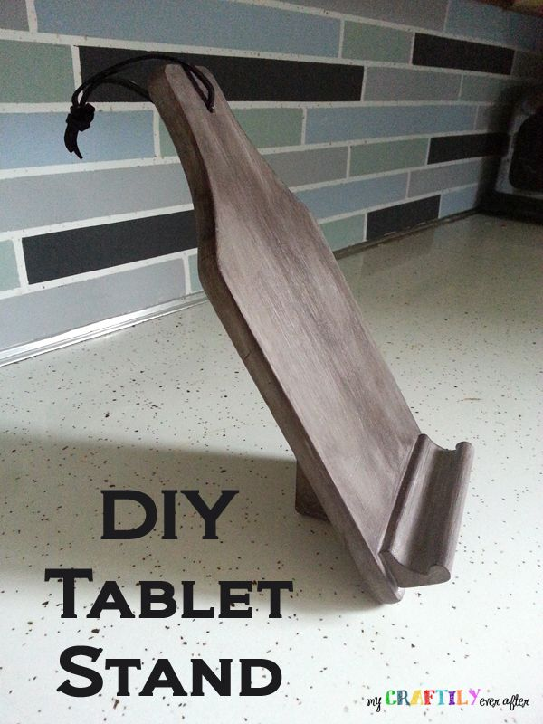 diy tablet phone stand tablet stand and diy and crafts. Black Bedroom Furniture Sets. Home Design Ideas