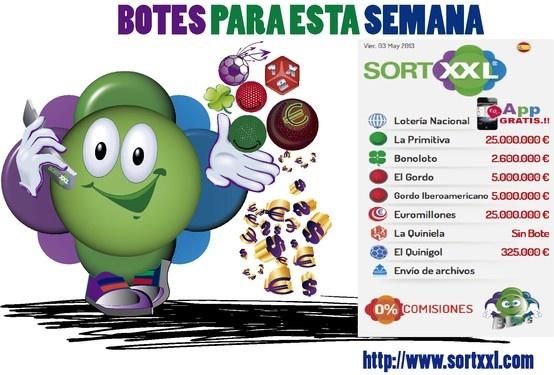 Botes Loterias para este fin de semana (Del viernes 3 al 5 De Mayo de 2013)