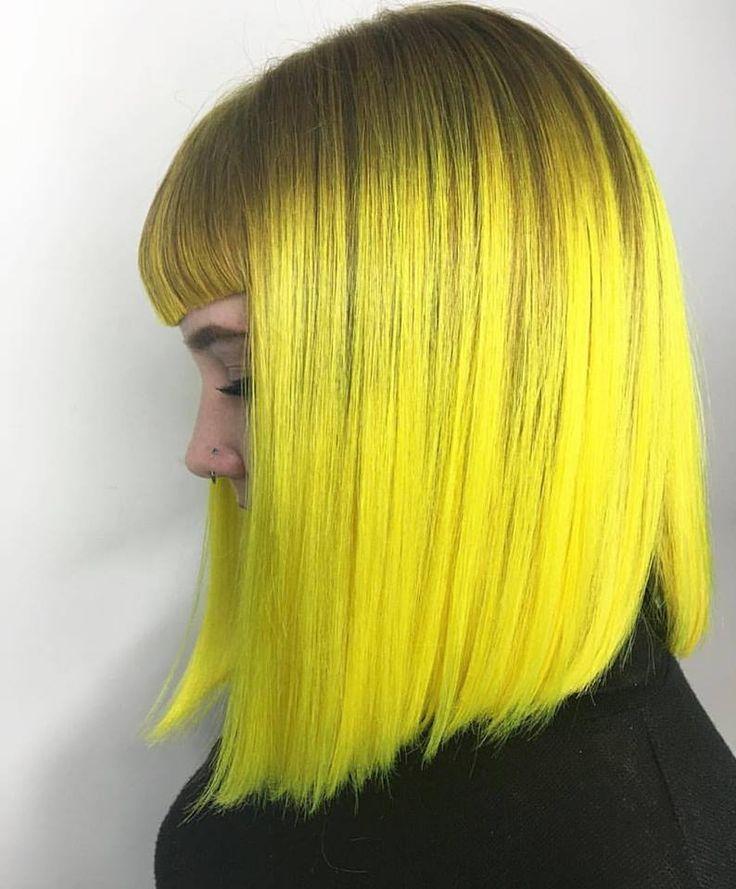 Yellow hair don't care.   Created by @chellsiedanielle with PRAVANA NEONS…