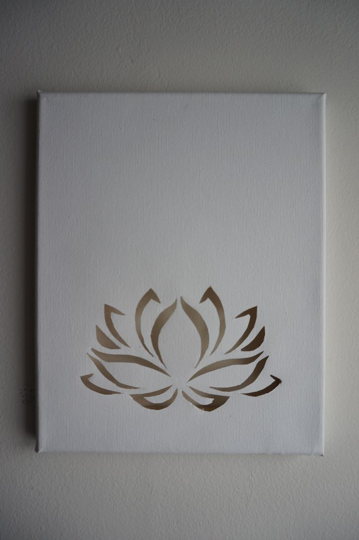 Lotus flower cutout on blank canvas                                                                                                                                                                                 More