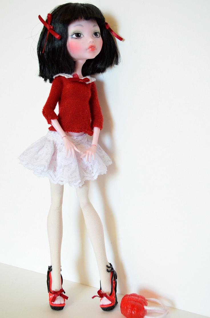 Rose OOAK Monster High Doll Repaint Custom Draculaura Gloom Beach | eBay