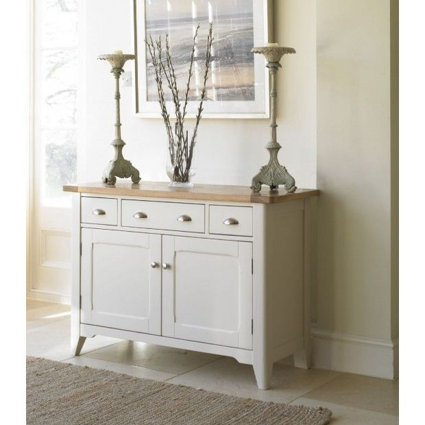 Cottage Oak and Painted Small Sideboard   Oak Furniture UK