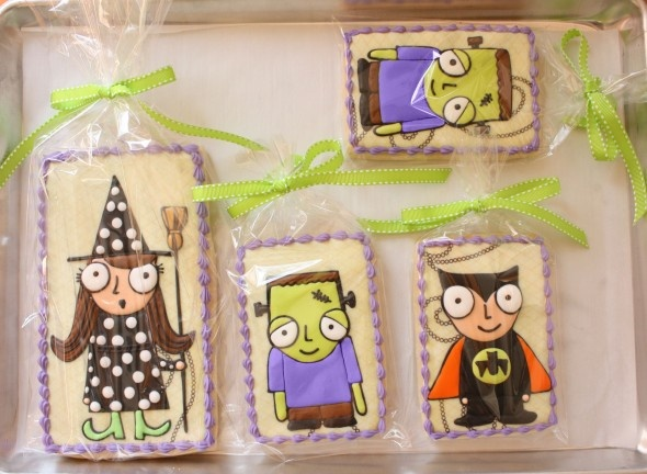 Cute Halloween cookies!Sugar Cookies, Cookies Gang, Creepy Cookies, Decor Cookies, Decorated Cookies, Halloween Food, Cookies Tutorials, Cookies Halloween, Halloween Cookies