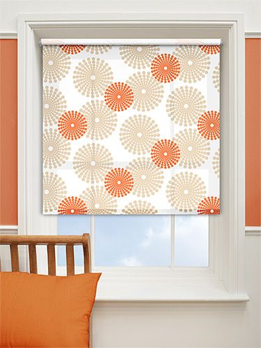 Salina Orange Roller Blind Bright Funky And 100