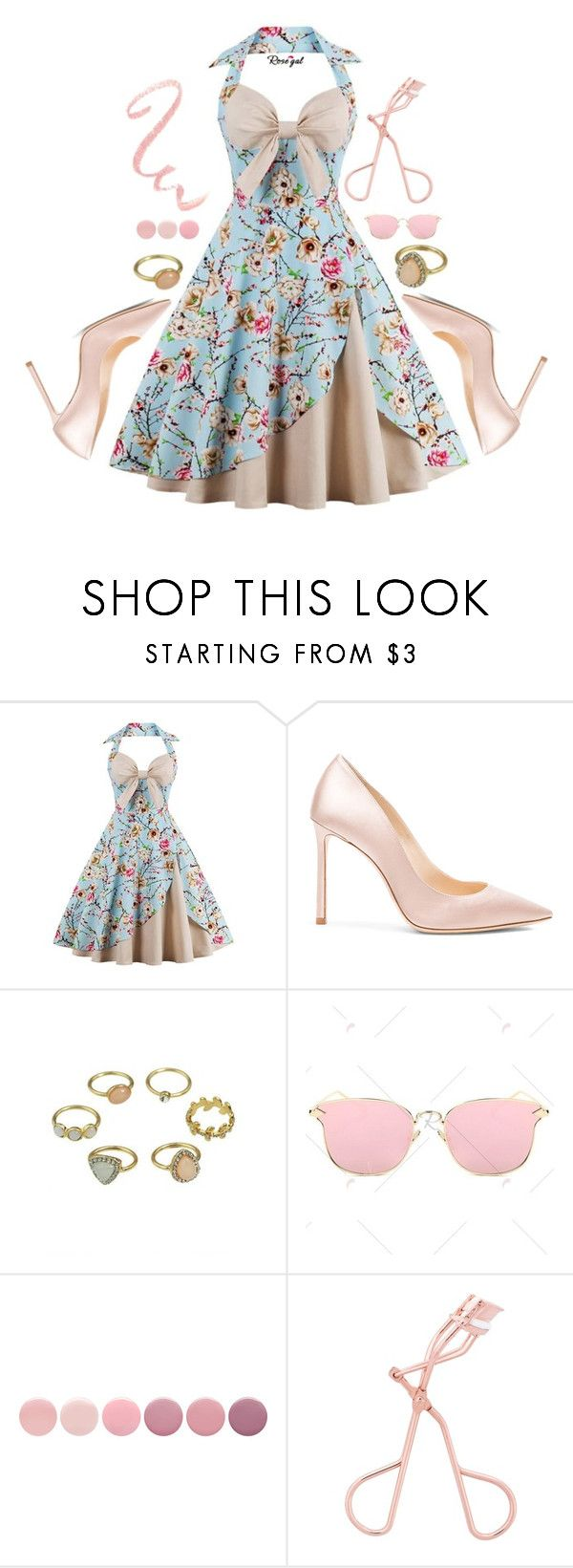 """""""Pinkish love"""" by deeyanago ❤ liked on Polyvore featuring Jimmy Choo and Deborah Lippmann"""