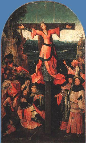Иероним Босх Распятая мученица, 1500-1503 Доска, масло. 119×104 см Дворец дожей, Венеция
