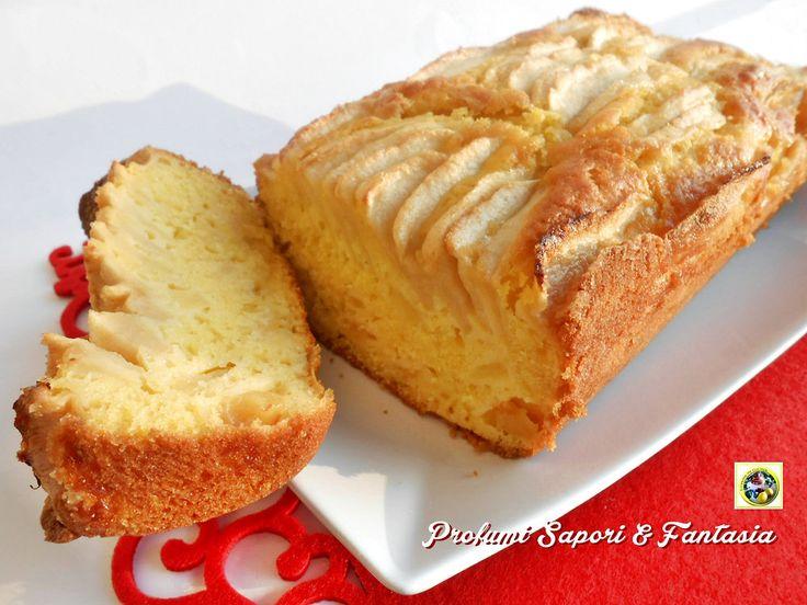 Plumcake+alle+mele+con+Amaretto