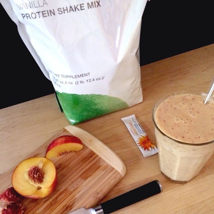 "recipe: Arbonne Protein Shake- ""The Georgia Peach"" — coffee wine & yoga: a food, travel & lifestyle blog"