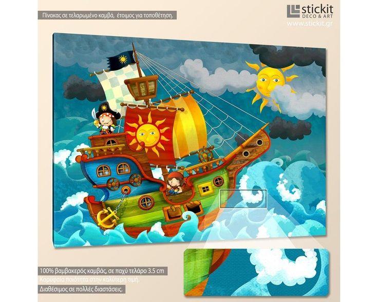 Μικροί πειρατές, παιδικός - βρεφικός πίνακας σε καμβά,14,90 €,http://www.stickit.gr/index.php?id_product=18816&controller=product