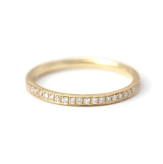 Classic Diamond Eternity Ring  Eternity Wedding Band  by artemer
