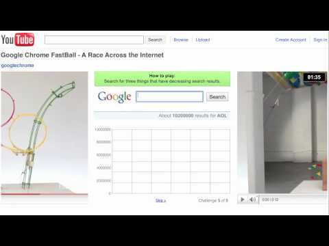 Google Chrome Fastball - YouTube