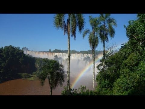 Beautiful Iguazu Falls shared between Argentina & Brazil - some of the most beautiful falls.  2013 HD VIDEO: