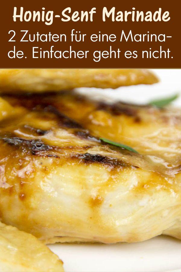 Die Honig-Senf Mischung verleiht dem Fleisch eine feine Senfnote und einen süßen Geschmack durch den Honig.