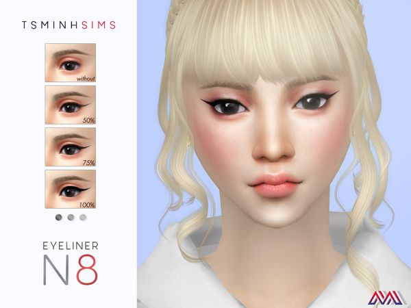 Tsminhsims Eyeliner N8 The Sims Cabelo Sims Sims 4