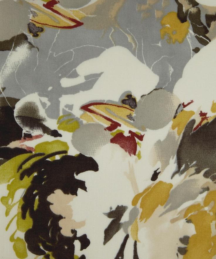 Liberty fabrics #ref #caminho das águas #fundo #textura #pintura #abstrato #floral #vida