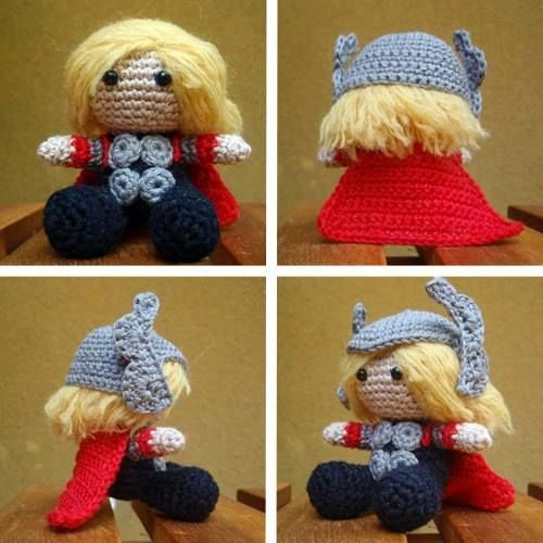 Make your own Pocket Thor Crochet pattern.  OMG I AM MAKING THIS RIGHT NOW!