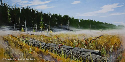 Allan Dunfield, 'Mystery in Nature', 24'' x 48'' | Galerie d'art - Au P'tit Bonheur - Art Gallery