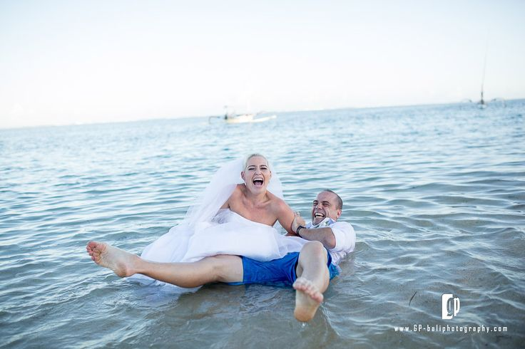 one moment to remember is when the bride and groom running happily beside the beach, then suddenly the bride was dragged over by the groom in to the deeper water and fall down, happily >.<
