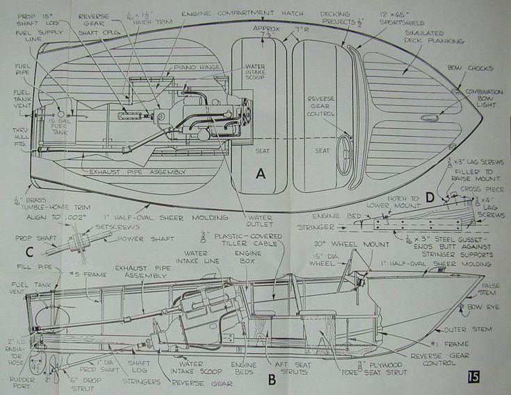 14 Best Boat Plans For Inboard Power Images On Pinterest