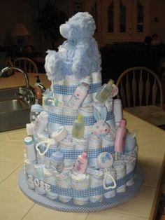 baby boy diaper cakes | Personalized Baby Boy Cake