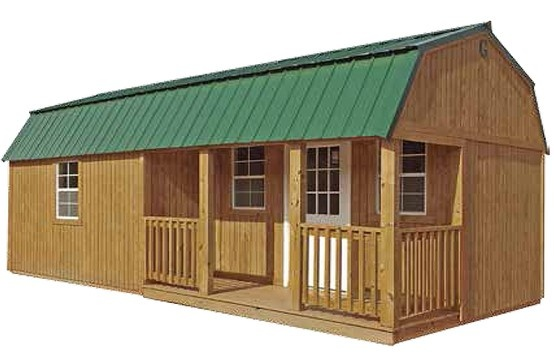 New Corner Porch Lofted Barn Cabin From Graceland Portable