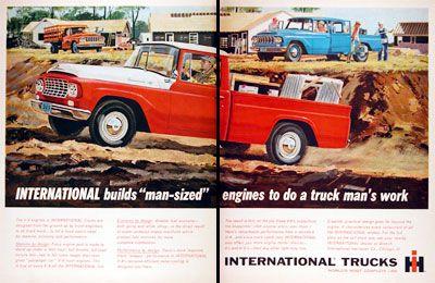 international pickup trucks | 1962 International Harvester Pickup Truck Classic Vintage Print Ad