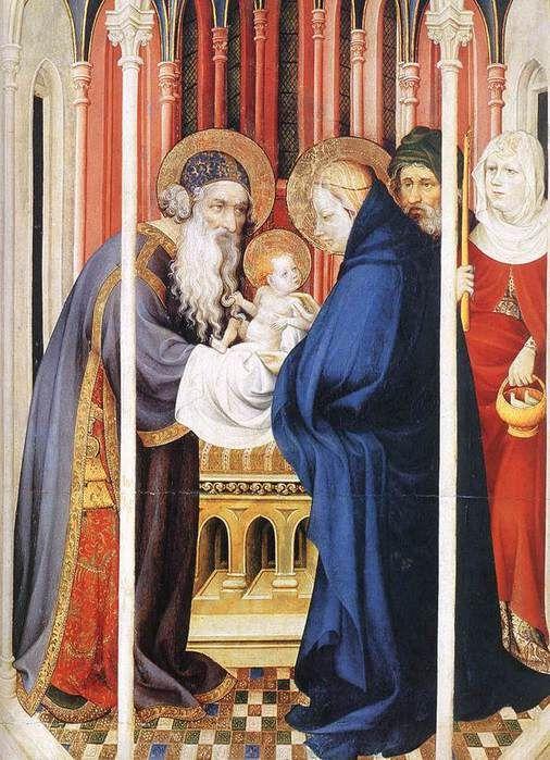 Брудерлам, Мельхиор (BROEDERLAM, Melchior) (Ок. 1328—1409) - The Presentation of Christ (деталь створки Дижонского алтаря)