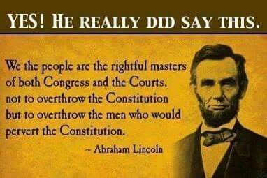 Happy President's Day Abe Lincoln actually said this! Know What? He is CORRECT!!!! Feb. 2015